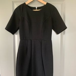 Black textured dress